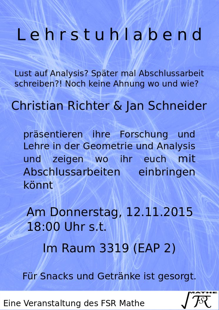 Lehrstuhlabend Richter & Schneider –